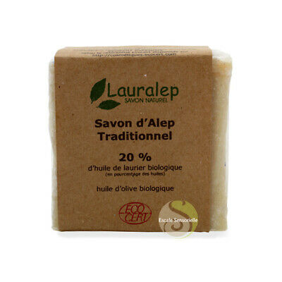 Savon d'Alep Bio traditionnel 20%  Lauralep