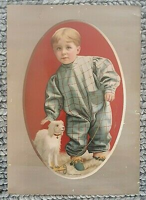 """1906 Great Western Cereal """" GOOD MORNING"""" Antique / Vintage Poster Advertising"""