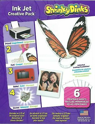 Shrinky Dinks Ink Jet Creative Pack - 6 Printable Sheets NEW