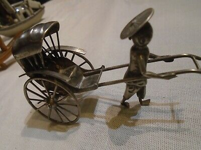 antique silver ?  rickshaw  and other items
