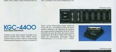 TRiO KENWOOD KGC-4400 Mini 5-Band Graphic Equalizer 4ch+ SUB KDT EQ KEC