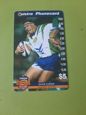 $5 3 Hole Phonecard  Super League David Furner Prefix 1506