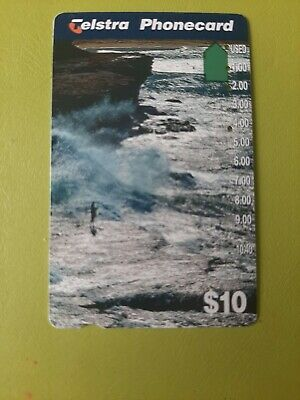 $10   4  Hole Phonecard  Rock Fishing Prefix 1442