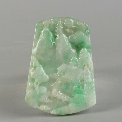 Chinese Exquisite Hand-carved Jadeite jade Pendant