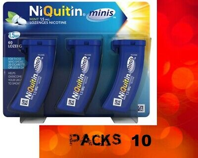 NiQuitin minis 1.5mg Mint Lozenges 60 in Pack 10  (Expiry April-2022)