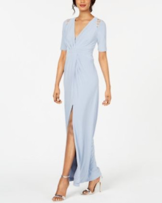 Adrianna Papell Shoulder-Cutout Jersey Gown $189 Size 0 # 9NB 331 Blm