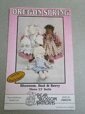 Blossom, Bud & Berry 3 X 23Inch Dolls From Oregon Spring From 1993