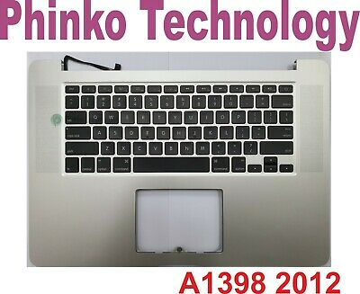 A1398 Top Case With Us Keyboard For Apple Macbook Pro Retina 15'' 2012