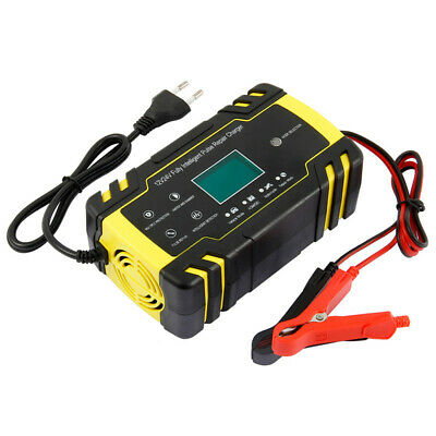 12V Motorcycle LCD Display Fully-Automatic Smart Battery Charger Maintainer Tool