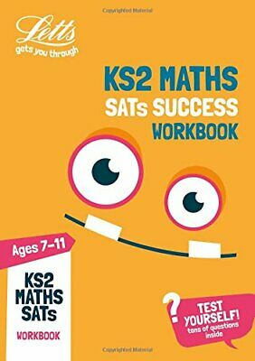 KS2 Maths SATs Practice Workbook by Letts KS2 Paperback NEW Book