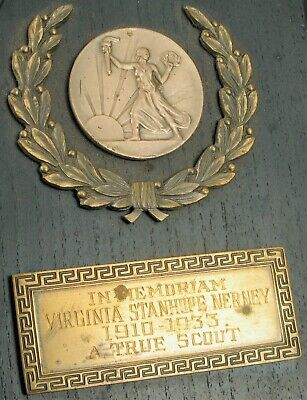 Virginia Stanhope Nerney Monumento Deco Placa Real Scout Caballo Otoño Accidente