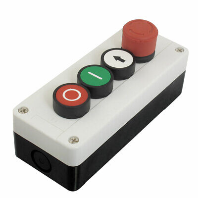 Emergency Stop Momentary NC Red NO White Green Push Button Switch Station