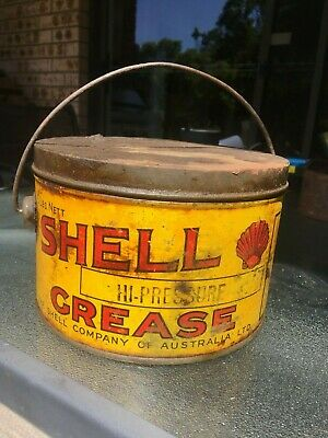 5 Lb Shell Hi-Pressure Grease Tin  - With Pail Handle