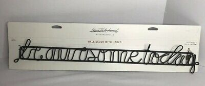 Be Awesome Today  Black Metal Wall Art Decor Hooks Hearth and Hand with Magnolia