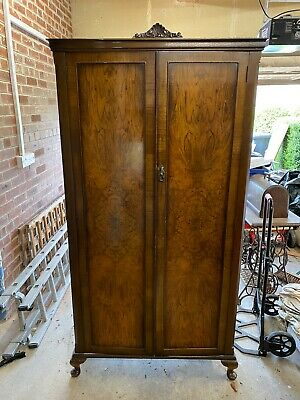 Antique Mahogany Double Wardrobe For Sale