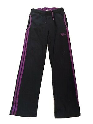 black and purple lonsdale joggers for girls aged 7-8 years old. good condition.