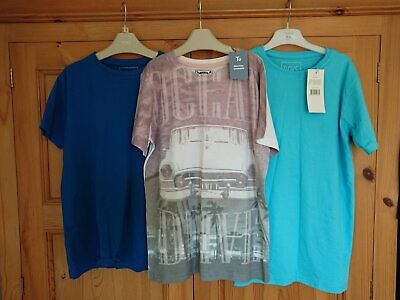 Boys T Shirts x3 2 New 1 Used TU and Urban Outlaws Age 11 - 12