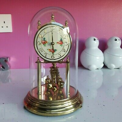 Kieninger & Obergfell Anniversary Clock in Glass Dome,