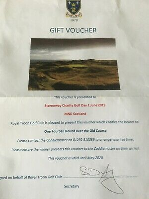 royal troon (old course)14 ball voucher valid until may 2020