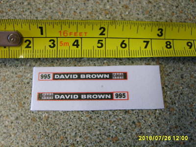 Corgi / Dinky  David Brown 995 Farm Tractor Side Stickers Code3 New Replacement