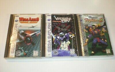 Sega Saturn Video Game Lot Virtual On Cyber Troopers Virtua Fighter 2 Wing Arms
