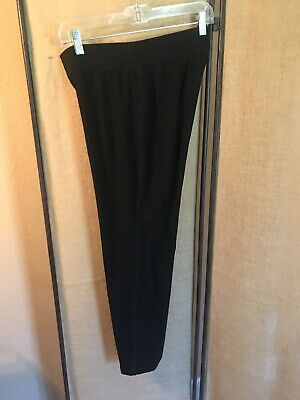 Eileen Fisher Women's Black Pull On Stretch Pants Size PS/PP Small Petite