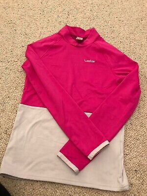 Wedze ski base layer reversible top Fleece Heather Girls 10 - 12