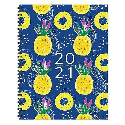July 2020 - June 2021 Pineapple Parade Large Daily Weekly Monthly Spiral Planner
