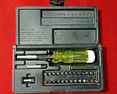 Sentry Security Industrial 29 Piece Magnetic Screwdriver Muti Bit Kit Made USA