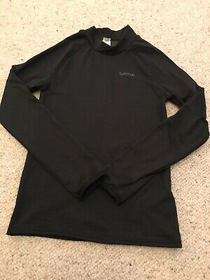 Wedze ski base Layer Fleece Boys Girls Warm Black