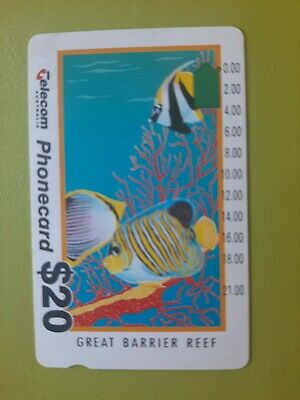 $20 1hole Phonecard Barrier Reef Prefix 337
