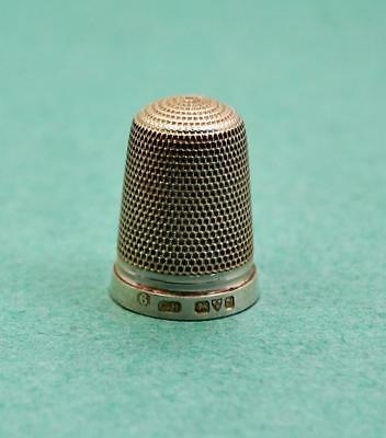 Antique sterling silver thimble Charles Horner 6 hallmarks Chester 1916