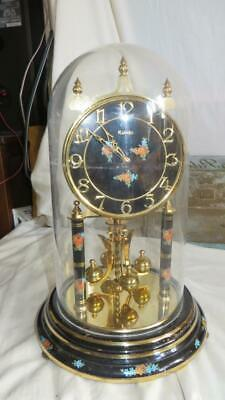 Kundo 400 day Anniversary Clock With Floral Black Dial Made in Germany