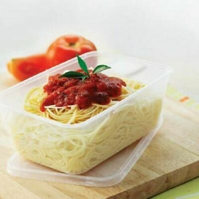 Take Away Plastic Food Containers 4 Sizes  50 Containers + 50 Lids Disposable