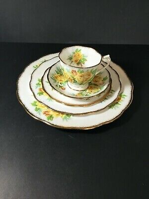Royal Albert Place Setting Yellow Tea Rose