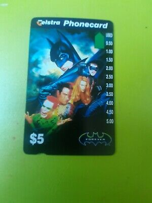 $5 Mint Phonecard  Batman Forever  Prefix 932