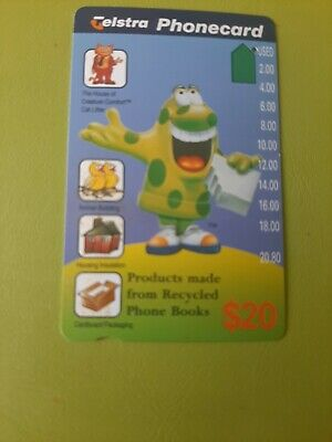 $20 1hole Phonecard Bookmuncher  Prefix 939