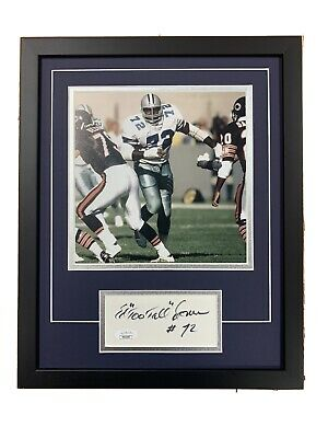Ed Too Tall Jones Signed Cut Jsa Auto Custom Framed Dallas Cowboys