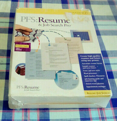 Vintage Pfs Resume & Job Search Pro (Dos 3.1+)