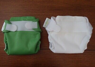 BumGenius Lot of 2 All In One Cloth Diapers Size XS Newborn Hook Look Close New