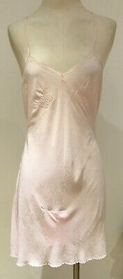 """Vintage 1930s Shell Pink Teddy Slip/Petticoat Pin-up Glam, 17"""" armpit to armpit"""