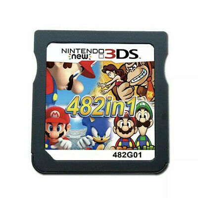 Card Console For Nintendo NDS NDSL 2DS 3DS NDSI Video Game Cartridge 482 In 1