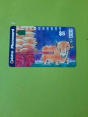 $5 Multi Hole Phonecard  Year Of The  Ox Prefix 1328