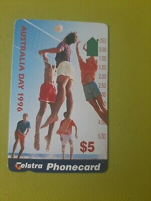 $5 1hole Phonecard 1996 AUSTRALIA Day  Prefix 1016