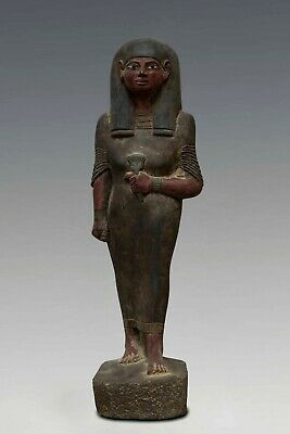 RARE ANCIENT EGYPT EGYPTIAN ANTIQUE Queen Nakhtmin STATUE GODDESS Stone BC