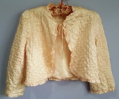 vintage bed-jacket silk original authentic quality ladies size 10 pre-loved