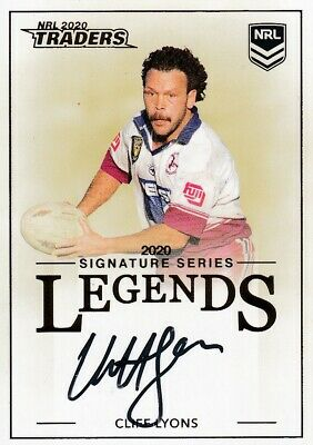 2020 Nrl Traders Legends Signature - L15 Cliff Lyons Manly Sea Eagles - #009