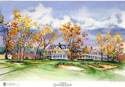 The Country Club 2022 US Open Limited Edition Golf Art Print Signed by Artist