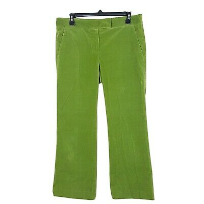 Theory Corduroy Pants Womens 8 Bootcut Green