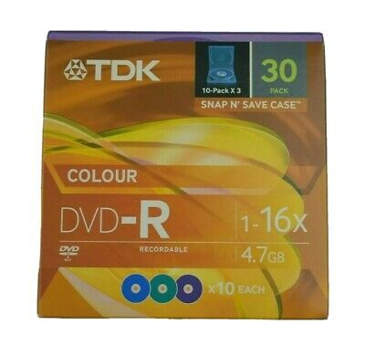 TDK DVD-R 30 Pack - 1-16x - 4.7GB - Recordable